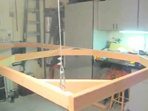 Winch system from the ceiling for hanging HO Model Train ...