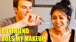 MY BOYFRIEND DOES MY MAKEUP! (tag)