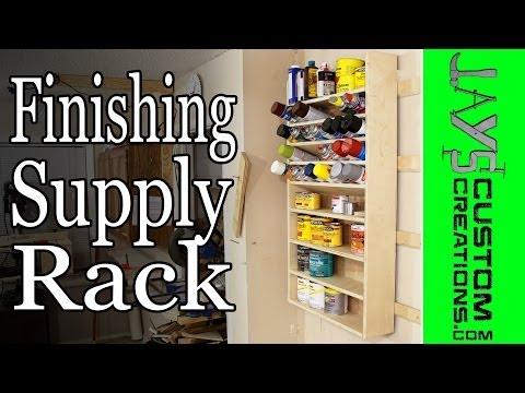 French Cleat Pocket Hole Finishing Supply Rack - 132