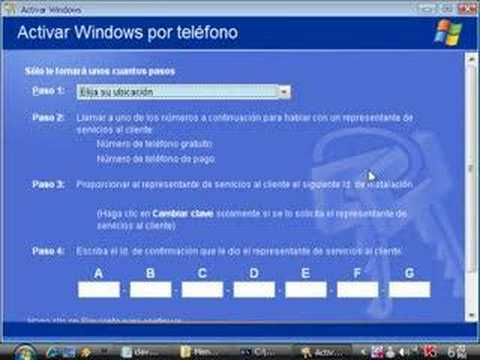 Validar windows xp. de pirata a genuino en un minuto