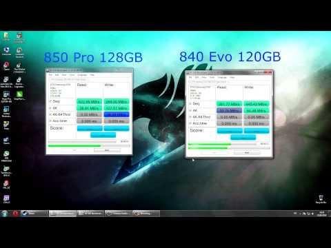 Samsung 850 Pro VS 840 Evo Benchmark Test