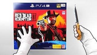 """PS4 Pro """"RED DEAD REDEMPTION 2"""" Console Unboxing (Playstation 4 Bundle) + Bonus"""