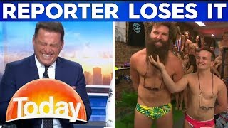 Karl loses it during hilarious budgie smuggler interview | TODAY Show Australia