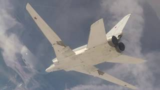 RAW: Russian long-range bombers annihilate ISIS targets in north-eastern Syria