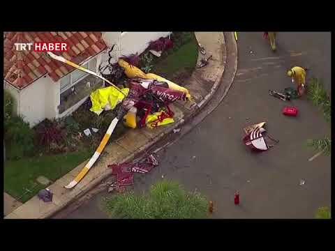 Kaliforniya'da tur helikopteri bir eve çarptı, 3 kişi öldü