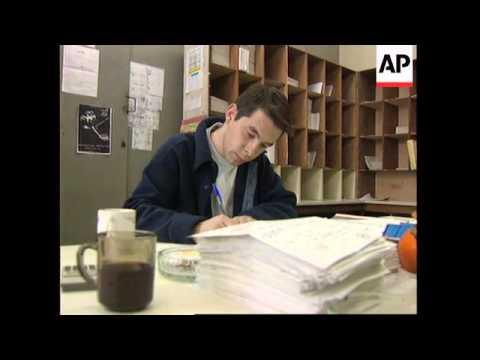 BOSNIA: SARAJEVO: RED CROSS POSTMAN