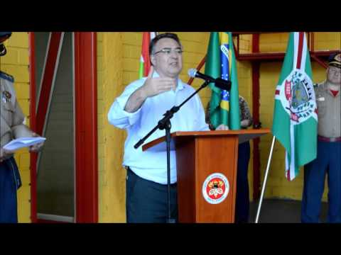 Discurso do governador Raimundo Colombo nos Bombeiros Comunitários de Seara
