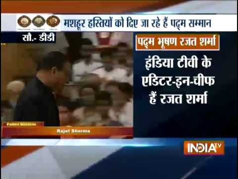 India TV Chairman & Editor-in-chief Rajat Sharma conferred with Padma Bhushan