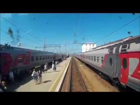 РЖД. Транссиб. Прибытие на станцию Пермь-2. Вид из кабины пассажирского электровоза ЭП2К