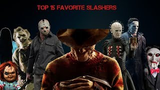 My Top 15 Favorite Slashers / Horror movies Villains
