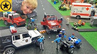 Bruder Toys JOHNNY EVIL SHOWDOWN 🚔 👮 🚓 Bruder Police Shoot PLAYMOBIL (Episode12)