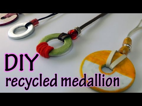 Diy crafts recycled medallion youtube for Diy crafts youtube channels