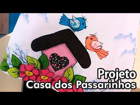 Ateliê na TV - Márcia Caires - Pano de prato, Casinha de Passarinho