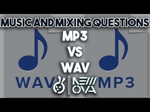 What's The Difference Between MP3 And WAV Files ~ Music & Mixing Questions Answered