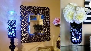 Diy Patterned Wall Mirror and Lighting| 5 Minutes Quick and Easy Craft!