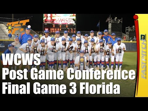 2015 WCWS Final Game 3 | Florida | Post Game Press Conference