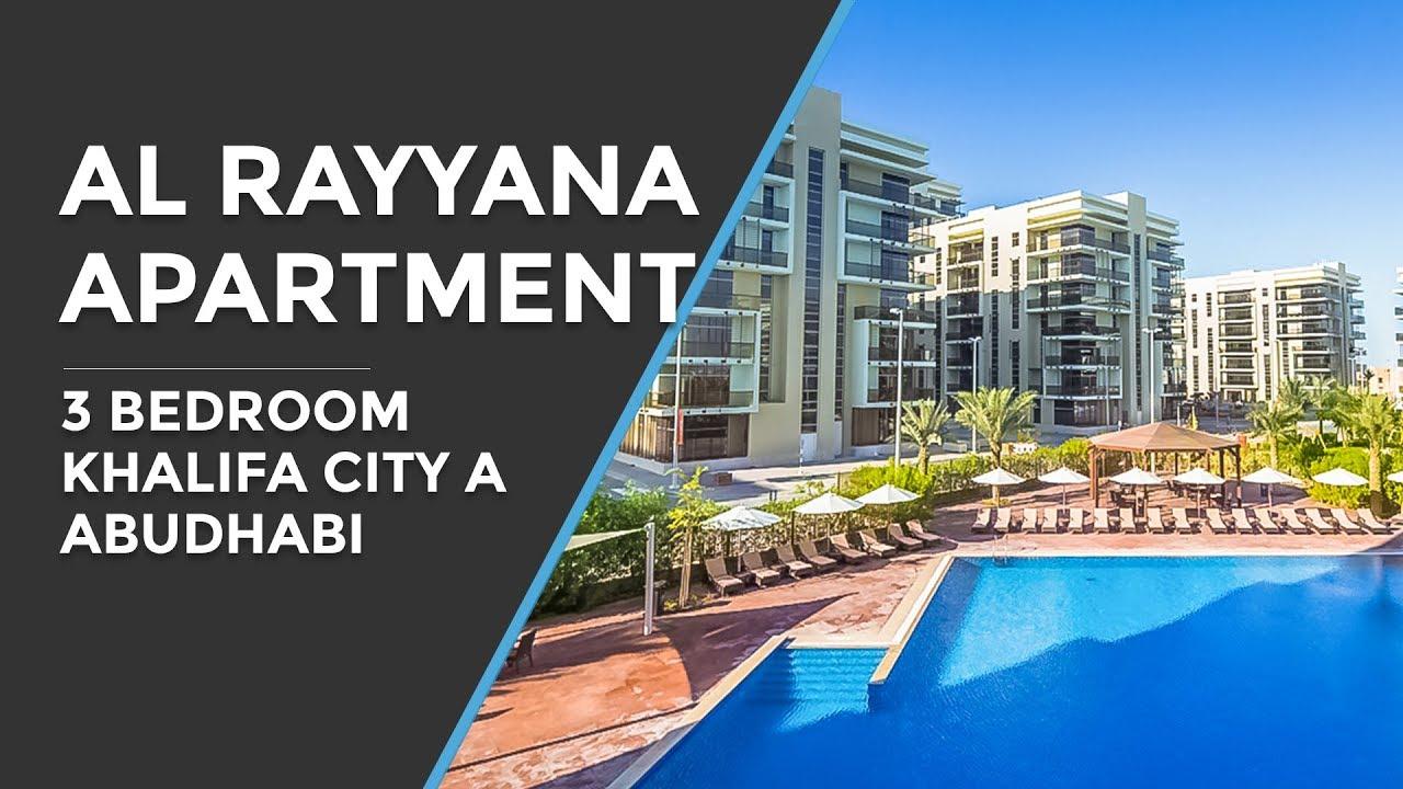 Al Rayyana 3 Bedroom Apartment Aldar Khalifa City A Abu Dhabi Youtube
