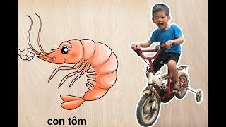 Bé Bo Chơi Trò Chơi Ghép Hình Con Tôm - Animal Names Puzzle Shrimp  - BVA TV