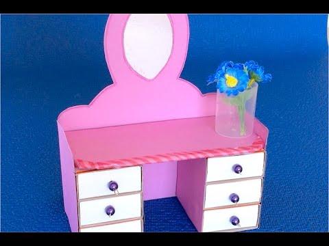 Кукольный туалетный столик своими руками 24