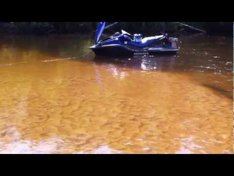 Fort McMurray Clearwater River Sandbar Fishing With The Honda Aquatrax 15x
