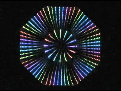 Octagon rgb led infinity mirror youtube for Miroir infini led