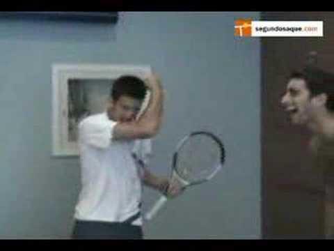 Funny Novak Djokovic Impressions at the UsOpen 07 Exclusive!