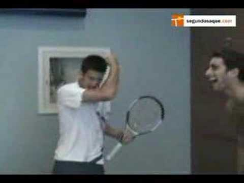 Funny Novak Djokovic Impressions at the UsOpen 07 Exclusive! Video