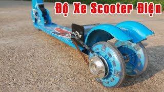 Độ Chế xe Scooter lên Scooter Điện Mini