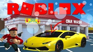 MIJN EIGEN GARAGE & WASSTRAAT !! | Roblox Car Wash Tycoon