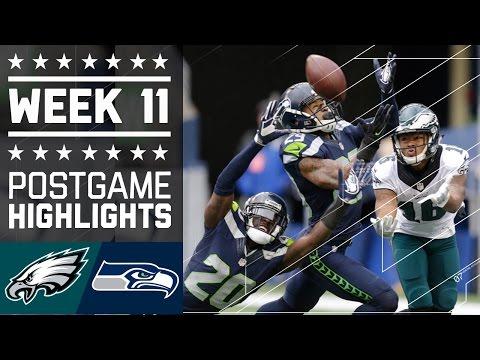 Eagles Vs Seahawks Nfl Week 11 Game Highlights