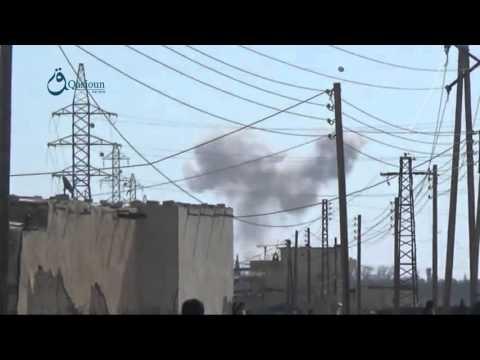 Qasioun news : airstrike on Marej area in countryside of Damascus 12-2-2016