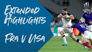 Extended Highlights: France v USA - Rugby World Cup 2019