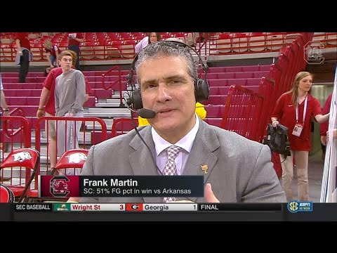 POST-GAME: Frank Martin on Arkansas — 3/5/16