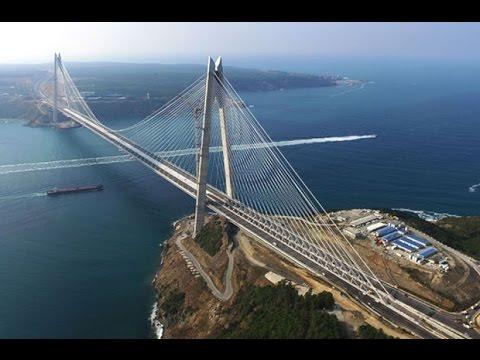 Yavuz Sultan Selim Köprüsü açılıyor (Havadan görüntüler)