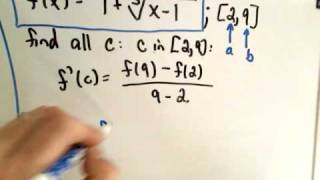? The Mean Value Theorem ?