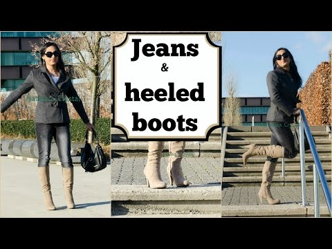 Crossdresser   Casual Outfit In Jeans And High Heels Boots   Natcrys