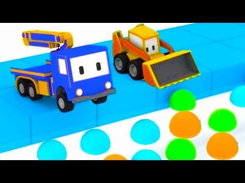 Игра в прятки с Малышами-грузовичками: бульдозер, кран, экскаватор, обучающий мультфильм