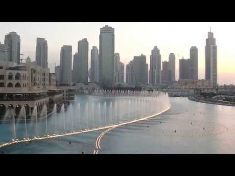 Burj KhalifaDubai Mall - Time To Say Goodbye - The Fountain