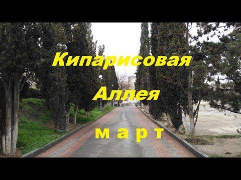 Крым, Судак 2018, Кипарисовая аллея в марте