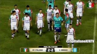 Sp. Italiano vs V. Arenas En Vivo Fecha 24 Primera C 201819