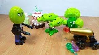 Mở hộp đồ chơi Hoa Quả Nổi Giận Plants vs Zombies playset toy for kids