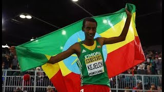 Yomif Kejelcha Won MenS 3000m Final World Athletics Indoor Championships 2018
