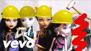 Fifth Haromny - Work From Home (A Monster High Stop Motion) DOLL PARODY