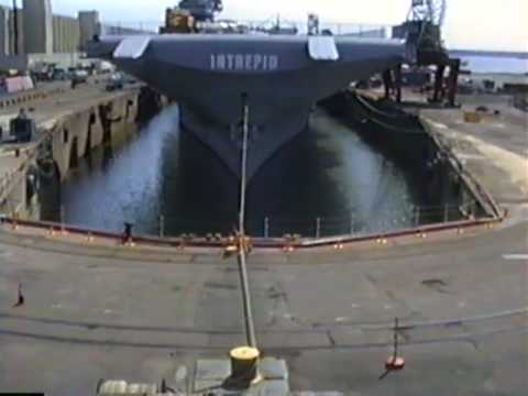Time Lapse of Intrepid going into Dry Dock Bayonne NJ