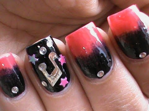 Pink - Punk Nails In Gradient Nail Polish Nails - How to do Ombre Sponge Nail Art Designs Tutorial