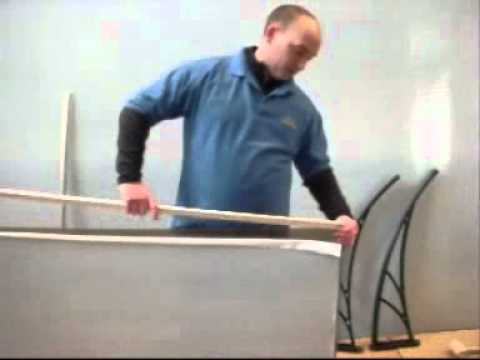 how to assemble diy door canopy kit ready to install youtube. Black Bedroom Furniture Sets. Home Design Ideas