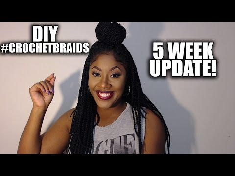 DIY CROCHET BRAIDS Senegalese Twists: 5 WEEK UPDATE  #CROCHETBRAIDS