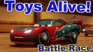 Cars 2: The video game ☆ Daredevil Lightning McQueen ☆ Battle Race on Pipeline Sprint