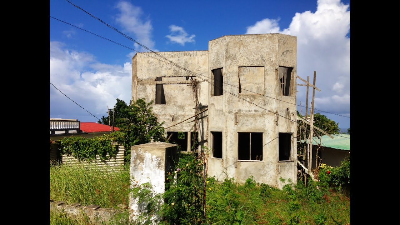 Urban Exploration Abandoned House In Jamaica Youtube: house build