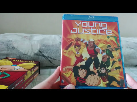 Unboxing | Hey Arnold! The Complete Series DVD + Young Justice The Complete First Season Blu ray